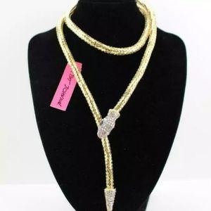 Betsey Johnson Snake Wrap Necklace